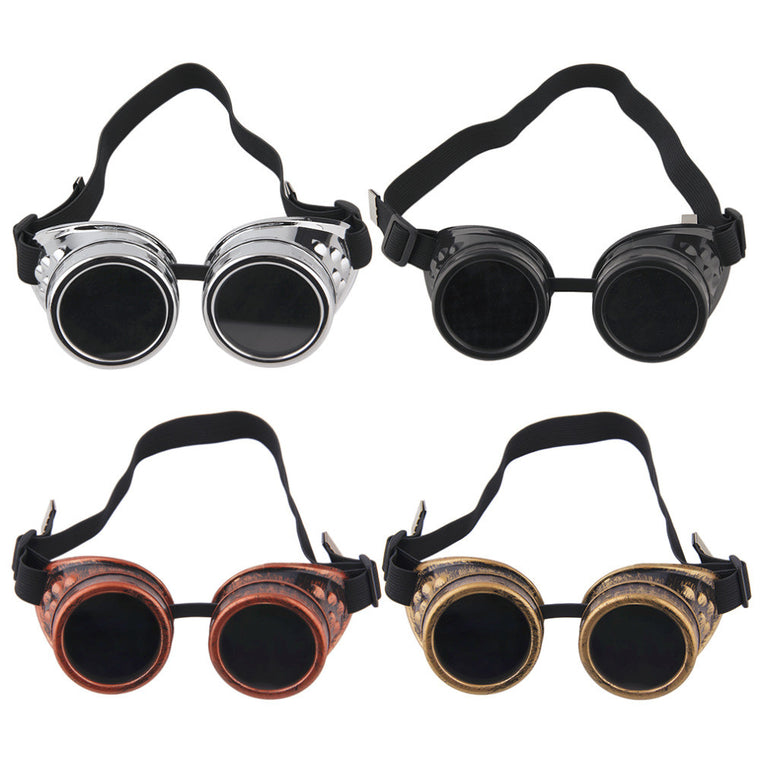 Goggles Steam punk Glasses Vintage Retro Welding Punk Victorian for bike free shipping