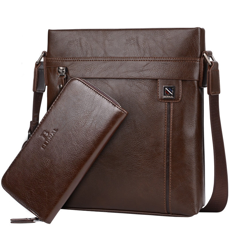 New fashion men bags leather business travel messenger bag Brand Design men's shoulder bag  2 colors