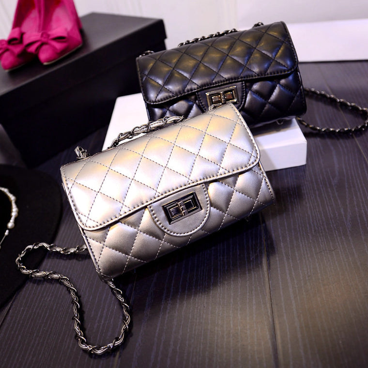 Fashion Women Handbags New Wave European and American Quilted Chain Bag Small Square Package Handbag Shoulder Messenger Bag