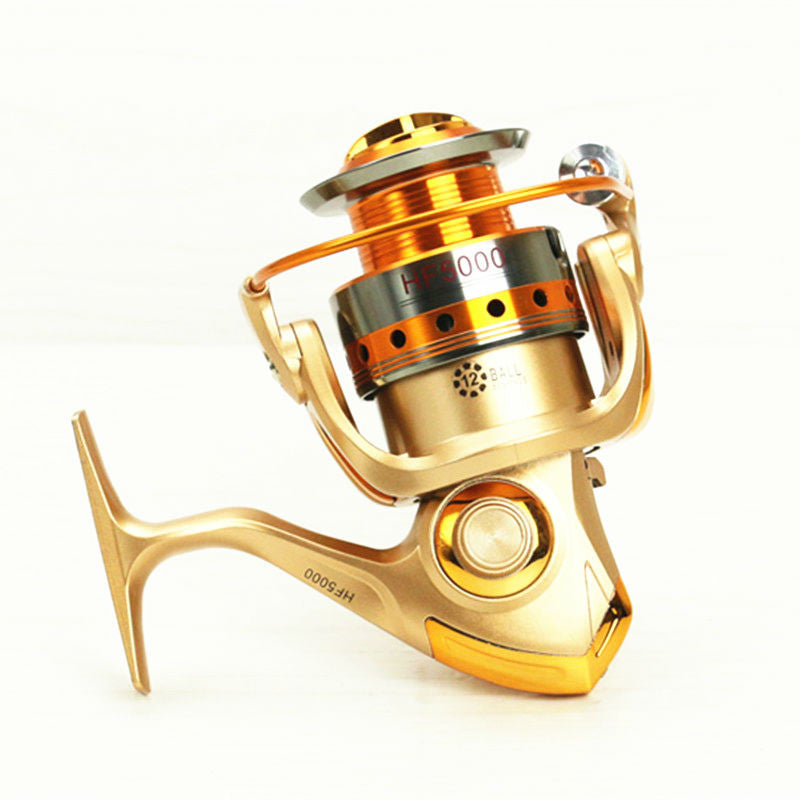 Metal Spinning Fishing Reel 12BB Fishing tackle Pesca Carrete Spinning Reel Feeder Carp Fishing Wheel HF1000-7000