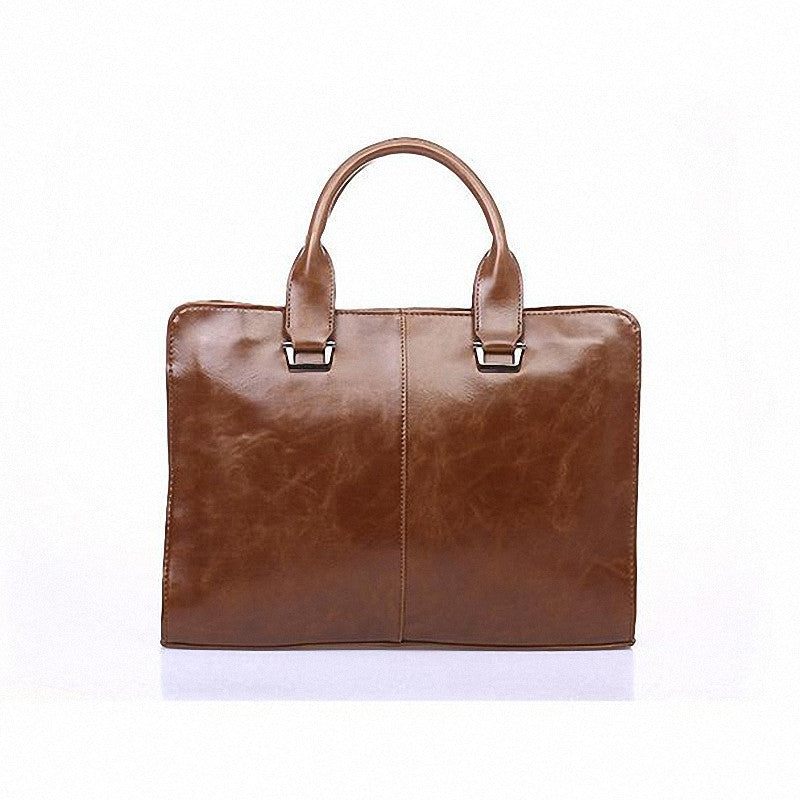 Designer pu Leather Retro messenger bags Business Men Briefcases  Fashion Laptop Men's Travel Bags LI-091