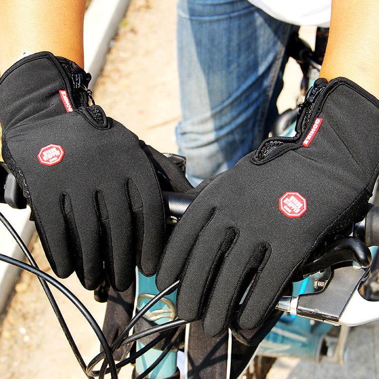 Screen Mens Women Cycling Gloves Anti-slip Motorcycle Windproof Bike Gloves Anti-shock Full Finger Mountain Bicycle Gloves