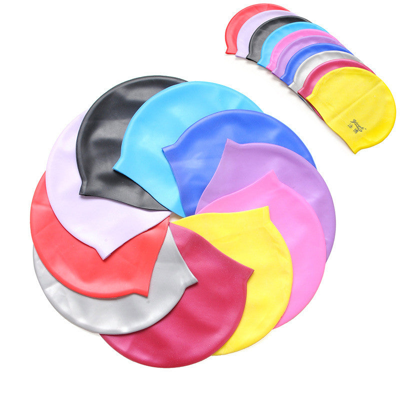 UNISEX ADULT CHILDREN SILICONE SWIM SWIMMING HATS CAPS ONE SIZE FIT FOR ALL