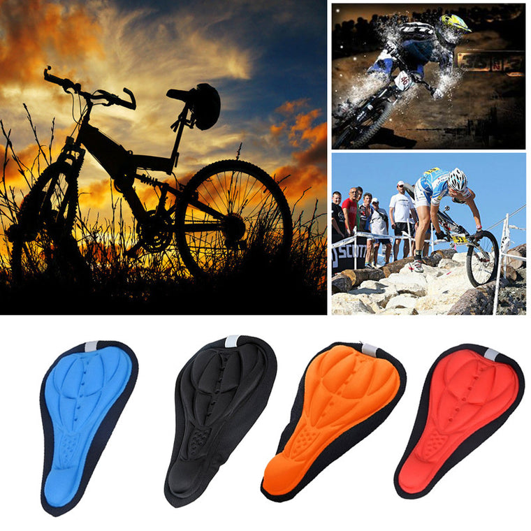 Cycling Bicycle Saddle Cover Bike Silicone Saddle Seat Cover Silica Gel Cushion Soft Pad BHU2