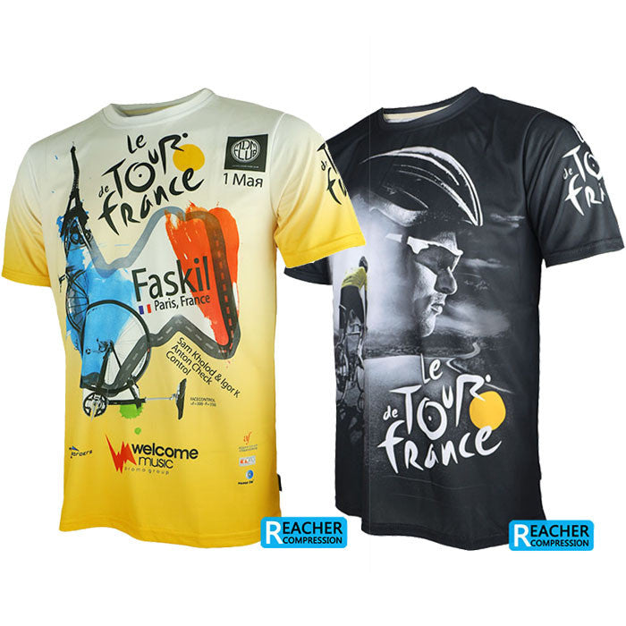 Tour de France men cycling bike bicycle quick dry breathable jerseys shirts short sleeves jerseys