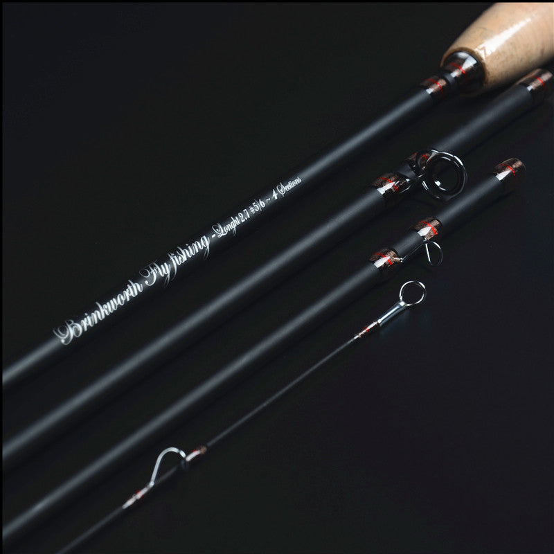 New carbon fly fishing rod 2.7 meters 4 section line wt 5/6 trout fishing rod 105g fly rod fishing tackle