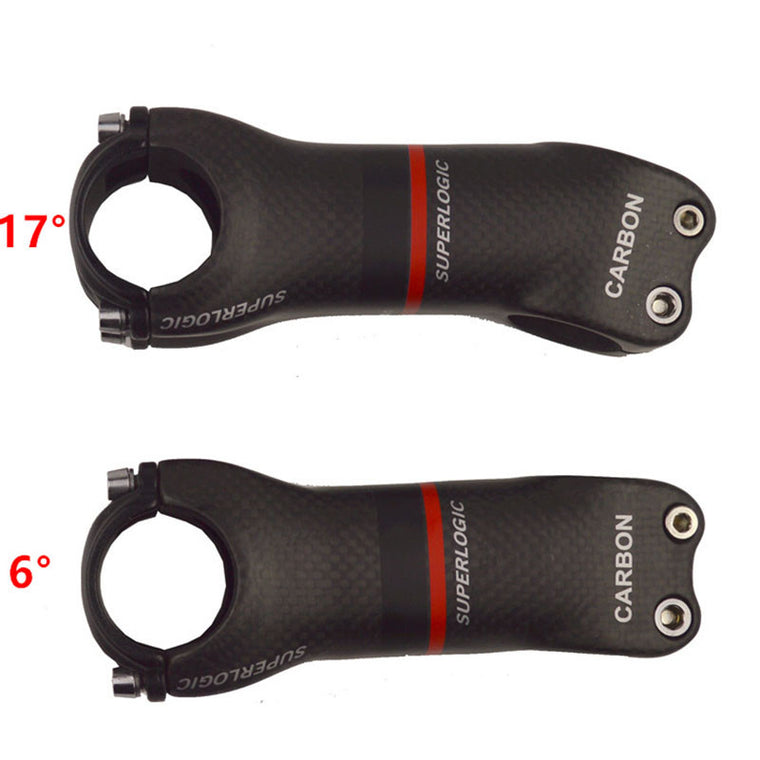 superlogic 3k matte Full Carbon Fiber Bicycle Stem Road/MTB Carbon Stem Bicycle Parts Angle 6/17 Degree