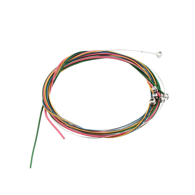 6pcs Multi Color 1-6 E B G D A E Rainbow Colorful Strings Set for Acoustic Guitar Hot Selling!!
