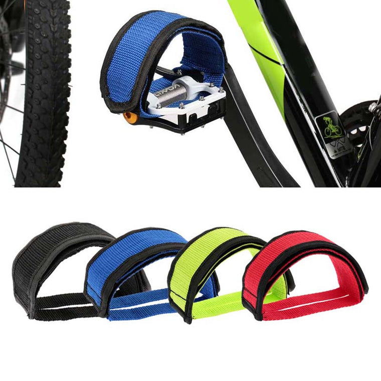 1Pcs Fixed Gear Fixie BMX Bike Bicycle Anti-slip Double Adhesive Straps Pedal Toe Clip Strap Belt Red / Blue / Green / Black