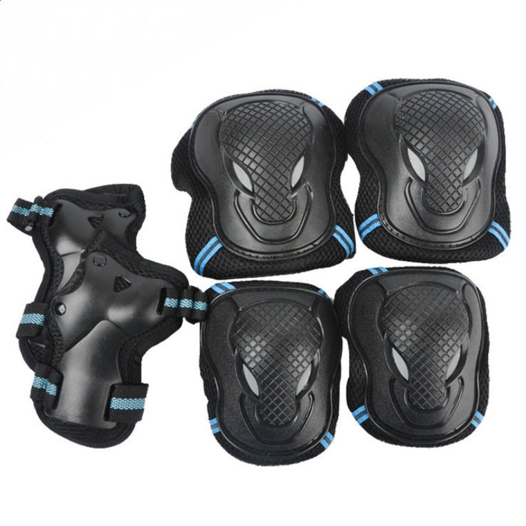 6 Pieces/Set Men Women Children Kid Sports Roller Skating Skateboard Skiing Elbow Knee Pads Wrist Protective Guard Gear Pad Gear