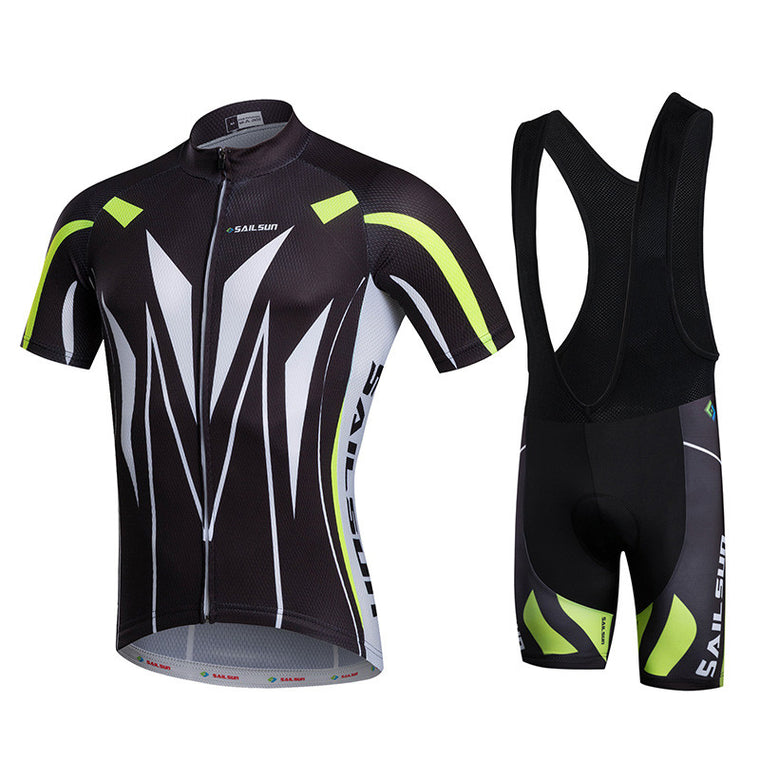HOT SAIL SUN Black Men bike Jersey or Cycling Bib Shorts Pro MTB Clothing Summer Male team ropa  Bicycle Top wear Breathable