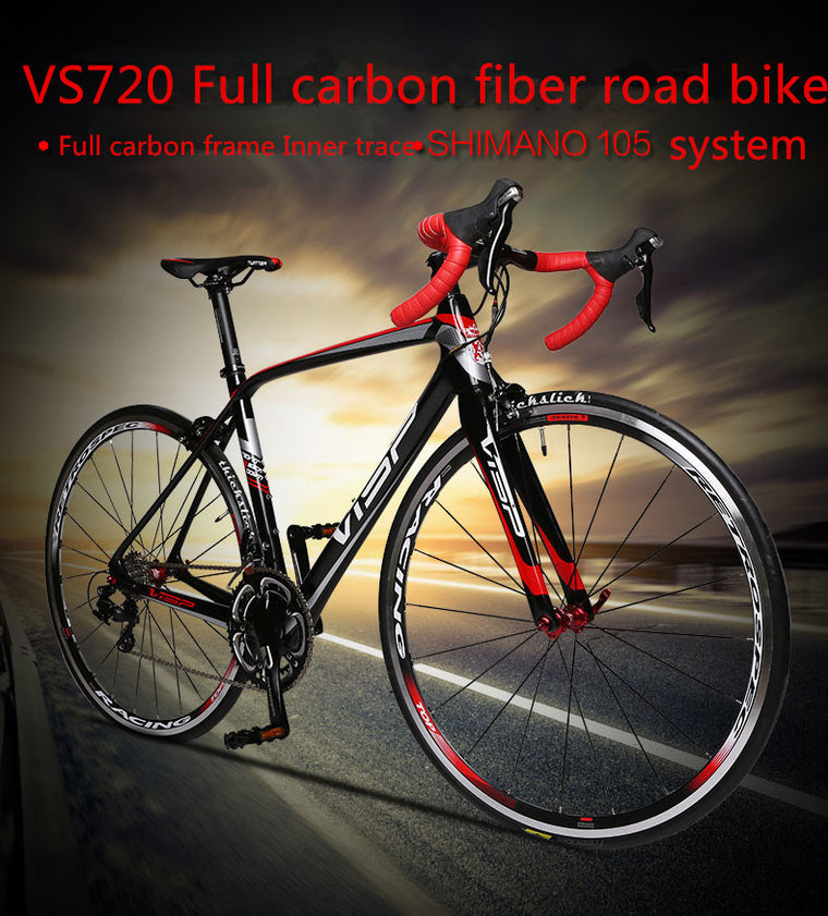 hot-sell  VISP complete carbon fiber road bike racing 18/20/22 speed  road bicycle V brake Full carbon 5800 group set 700c