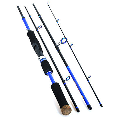 Spinning Fishing Rod 2.1m2.4m2.7m (4-Section, Medium) Lure Rods Carbon Fiber Travel Mate Vara De Pesca Carp Stick Fishing Tackle