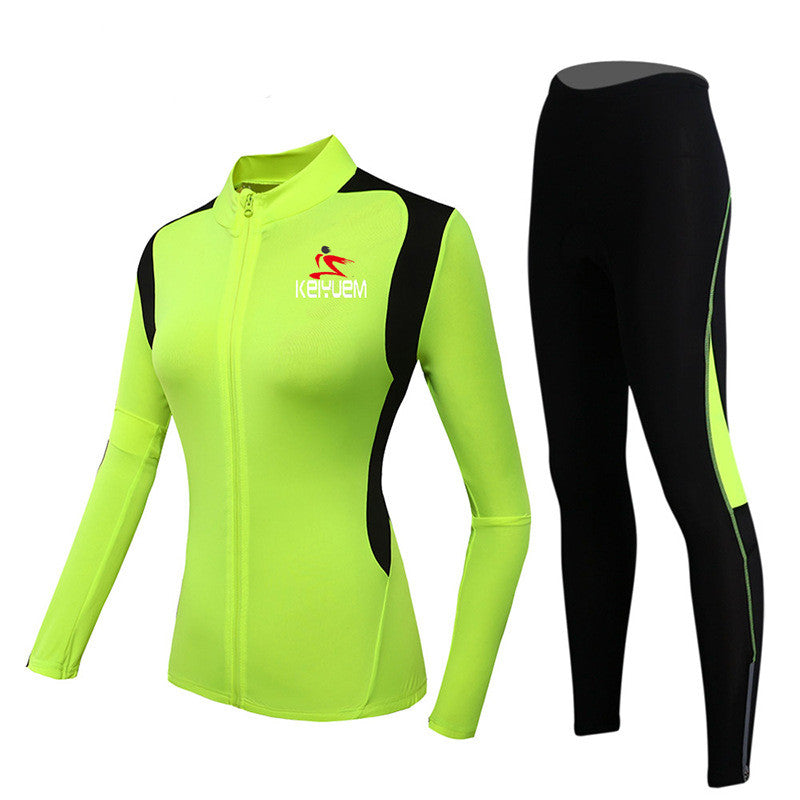 Women/'s Winter Thermal Cycling Jersey Set