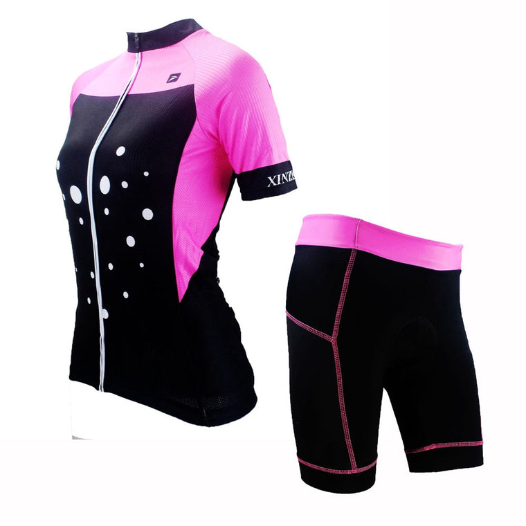 XINZECHEN New Women Bike Clothing Black Pink Cycling Jersey or Team Shorts Bicycle Top Cycling Wear Shirts mtb Jackets