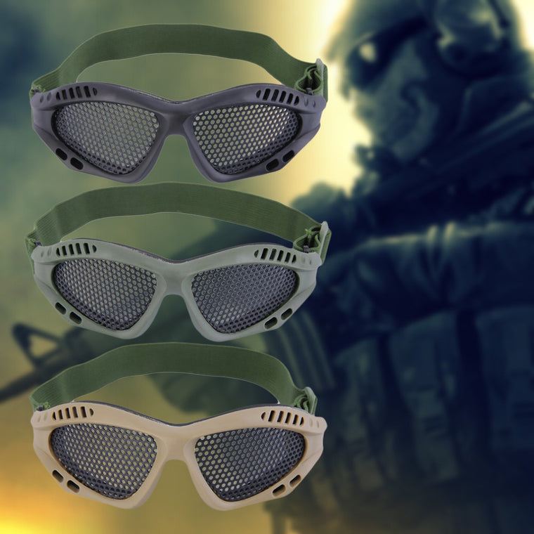 1pc Tactical Goggles Outdoor Eye Protective With Metal Mesh for CS Game Airsoft Safety Free Shipping