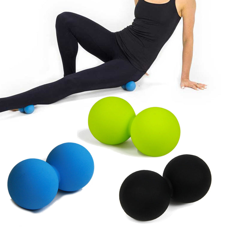 Silicone Double Lacrosse Ball Mobility Myofascial Trigger Point Yoga Massage Messager Ball Gym Fitness Ball For Body Building