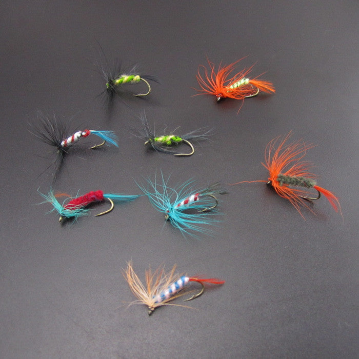 120pcs/lot dry fly lures various fly fishing lures Fishing Tackle