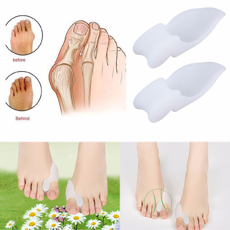 2pcs Silicone Gel Foot Pad Stretch Corrector Alignment Toe Bone Insole New Arrival super discount