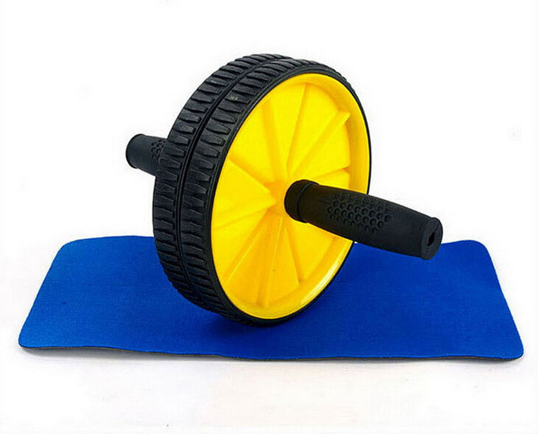 Lightweight Portable No Noise Abdominal Wheel Workout Exercise Ab Roller with Mat for Exercise Fitness Equipment