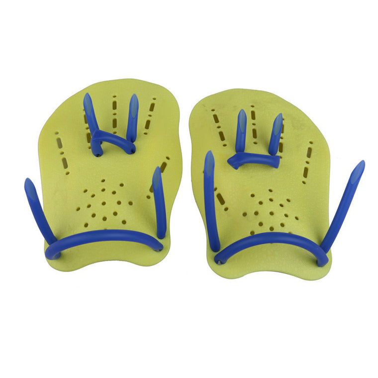 Children Swim Polypropylene Swimming Webbed Gloves Frog Finger Fin Paddle Diving Hand Wear Yellow Diving Gloves S EA14