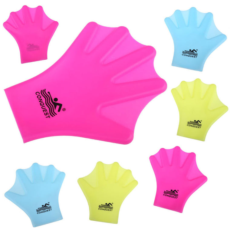 New Promotion Swimming Webbed Gloves Adult Finger Fin Diving Hand Wear Silicon