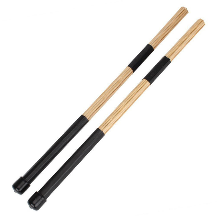 "1 Pair 15.7"" 40cm  Black Jazz Drum Brushes Drum Bamboo Sticks Percussion Instruments Drum Accessories"