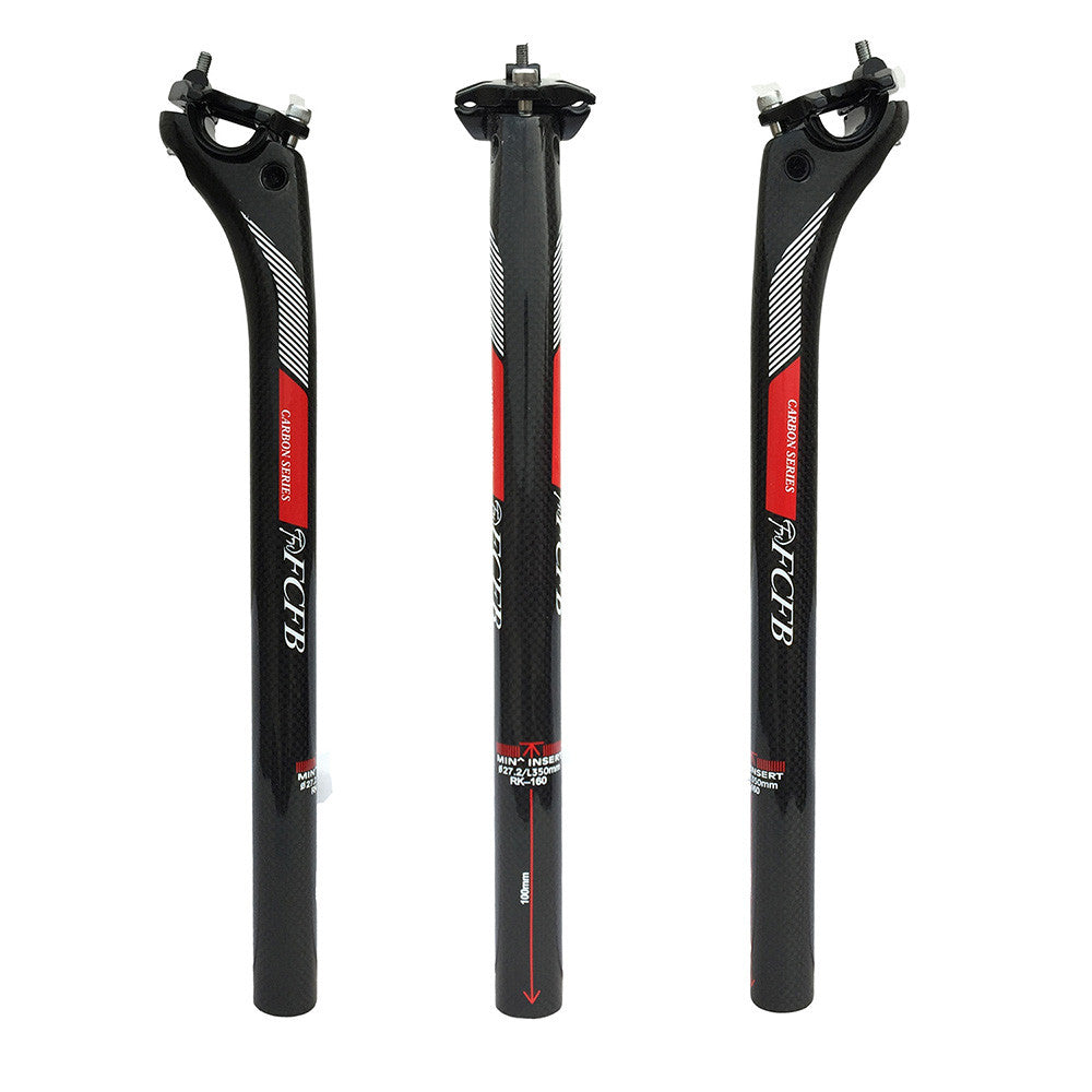sale new  FCFB FW  BACK 20MM carbon seatpost   27.2/30.8/31.6*350/400mm carbon bike parts	 mtb seat post road carbon seatpost