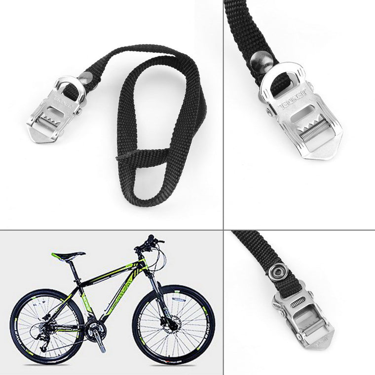1 Pair MTB BMX Bike Cycling Pedal Nylon Straps Clips Replacement Black Pedal Toe straps High Quality