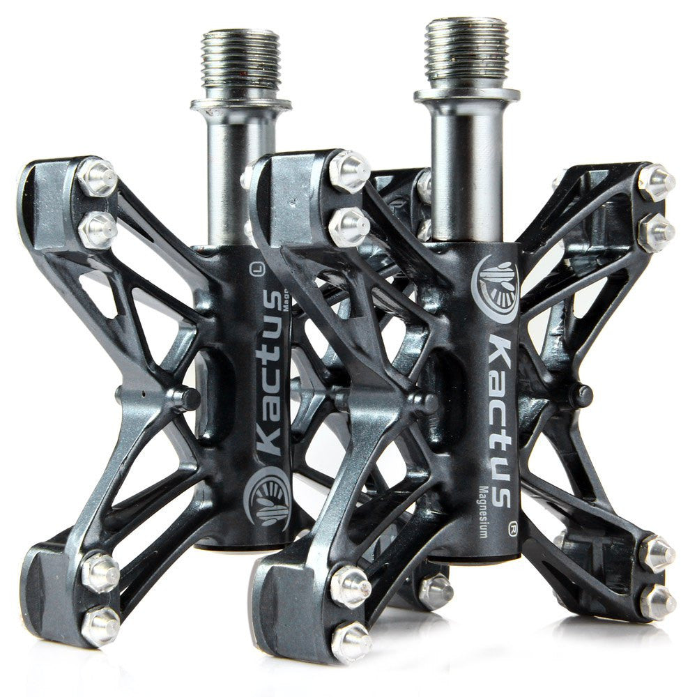Kactus Bicycle Pedal KTPD - 13C Bike MTB BMX Flat 3 Bearings Pedals Magnesium CNC Steel Bicycle Pedal Axle Footrest - 2PCS
