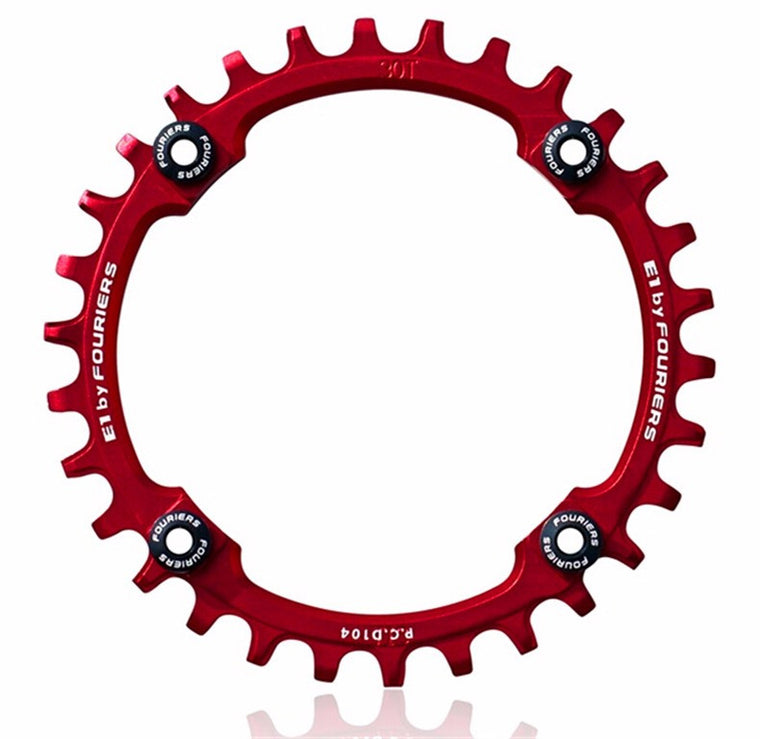 FOURIERS Mountain Bicycle Parts AM FR DH Chainwheel Crankset 30t 32t 34t 36t 38t 40t Chainring Aluminum Bcd104 Hollow Repair