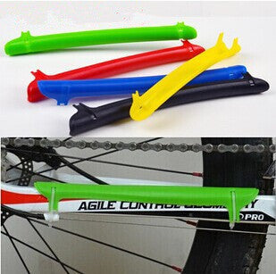 Cycling Chain Stay Protector Frame Chain Guard Bicycle Rear Fork Cover Red