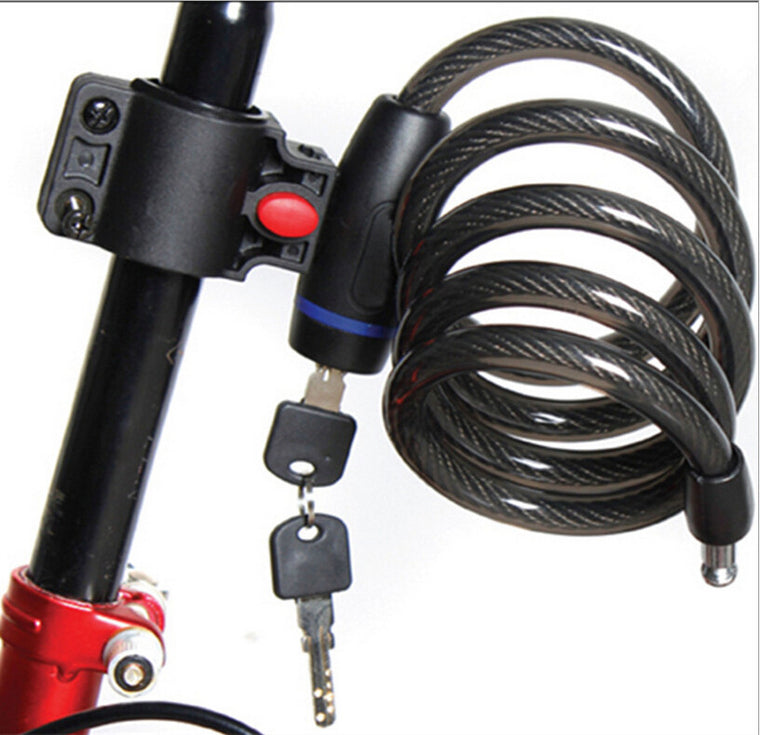 Strong Steel Wire Bike Bicycle lock Cable 1050mm+2 keys BLK042