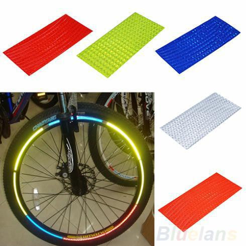 Fluorescent MTB Bike Bicycle Sticker Cycling Wheel Rim Reflective Stickers Decal for Outdoor Sports Accessories 065A