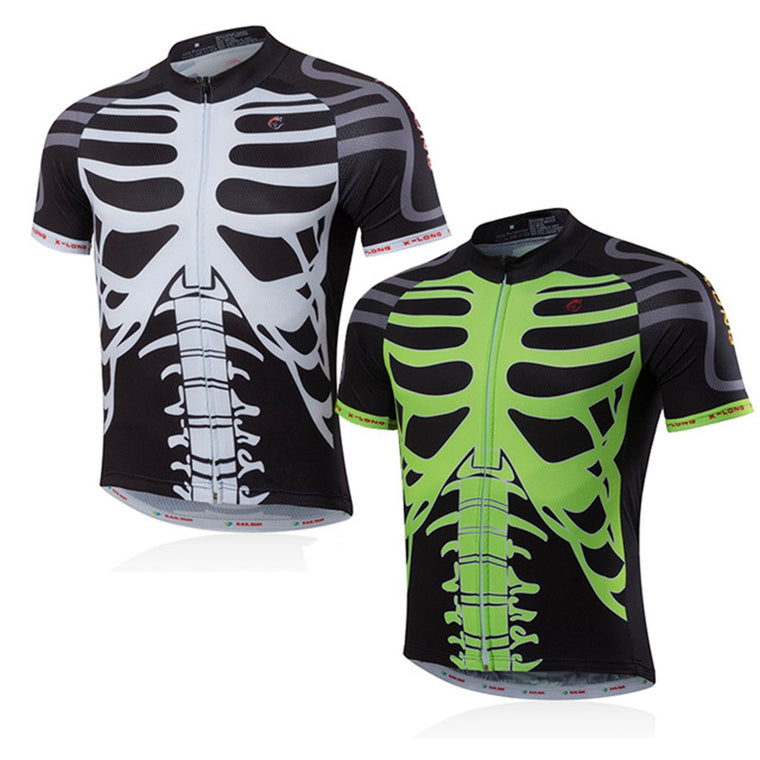 New Cycling Jersey Bike Skeleton Bicicleta Jacket Bicycle Outdoor Sports Short Tee Shirt Ropa Ciclismo Clothing QuickDry