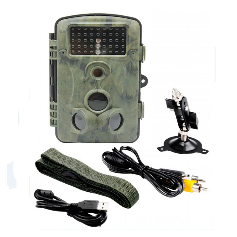12MP 1080P HD Game and Trail Hunting Camera IP54 Waterproof Infrared Night Vision 42pcs IR LEDs Scouting Camera