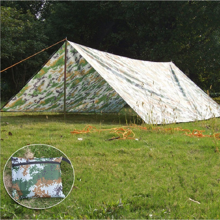 Outdoor camping tent sun shelter Simple Tent camping mat ground mat camouflage tent outdoor rainproof sun shade awing 3M*3M