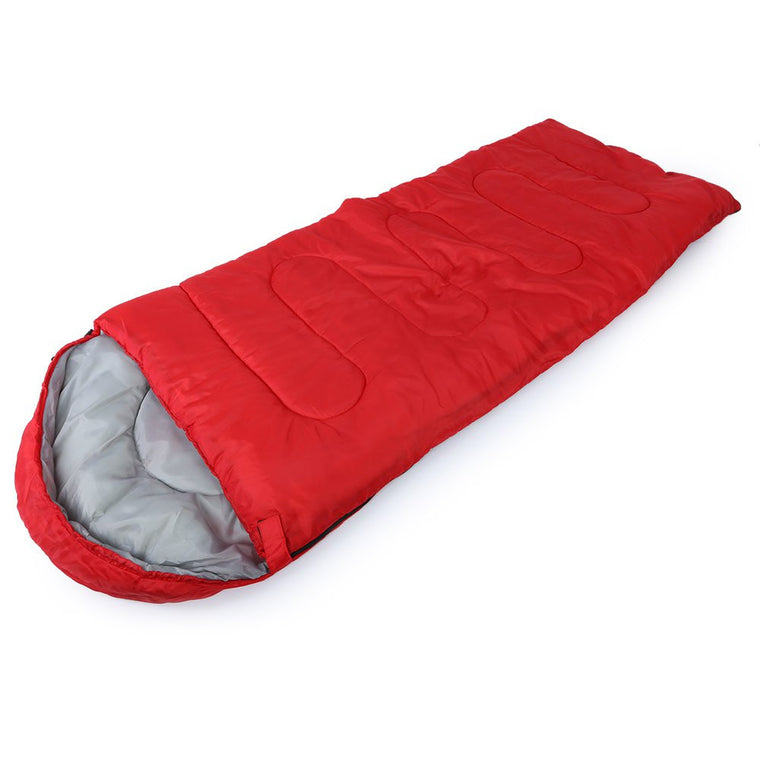 New Brand 3 Colors Sleeping Bag For Outdoor Camping Travel Professional Envelope Water Resistance Hooded Cotton Sleeping Bag