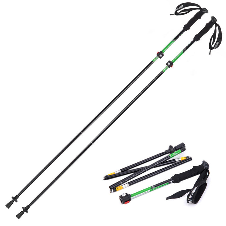 Naturehike 1pcs Naturehike Alpenstocks Ultralight Trekking Pole Folding Pole Waliking Stick Pole NH15A023-Z