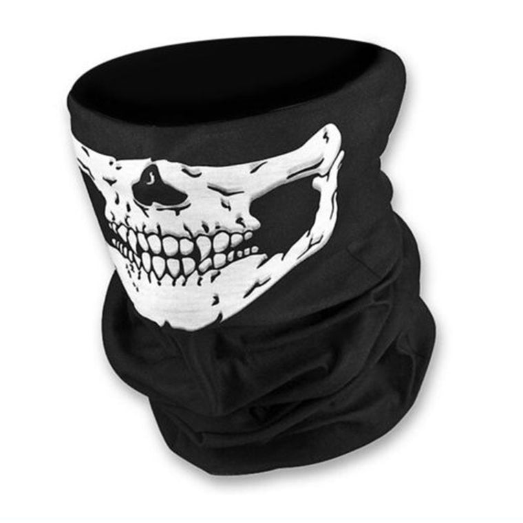 Hot Sale Men Women Cool Skull Design Adults Multi Function Ski Sport Motorcycle Biker Scarf Half Face Mask Sport Headband