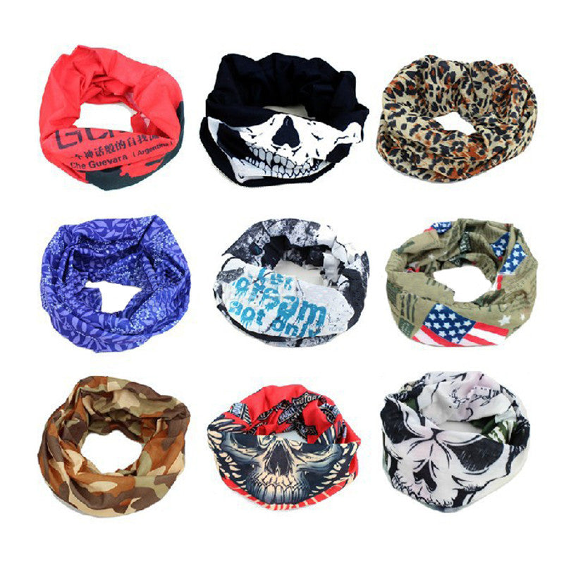 Camping & Hiking Scarves Biker Mask Cycle Balaclava Neck Tube Snood Scarf Face Mask Headband