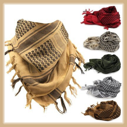 Sand Military Shemagh Headscarf Lightweight Keffiyeh Army MufflerTactical Desert Arab Head Wrap
