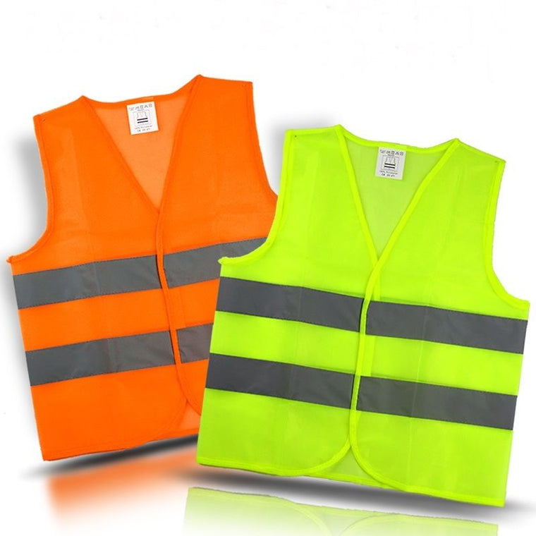 Reflective Vest Hi Viz Working Waistcoat Provides High Visibility for Camping Running Cycling Walking Etc. Warning Safety Jacket