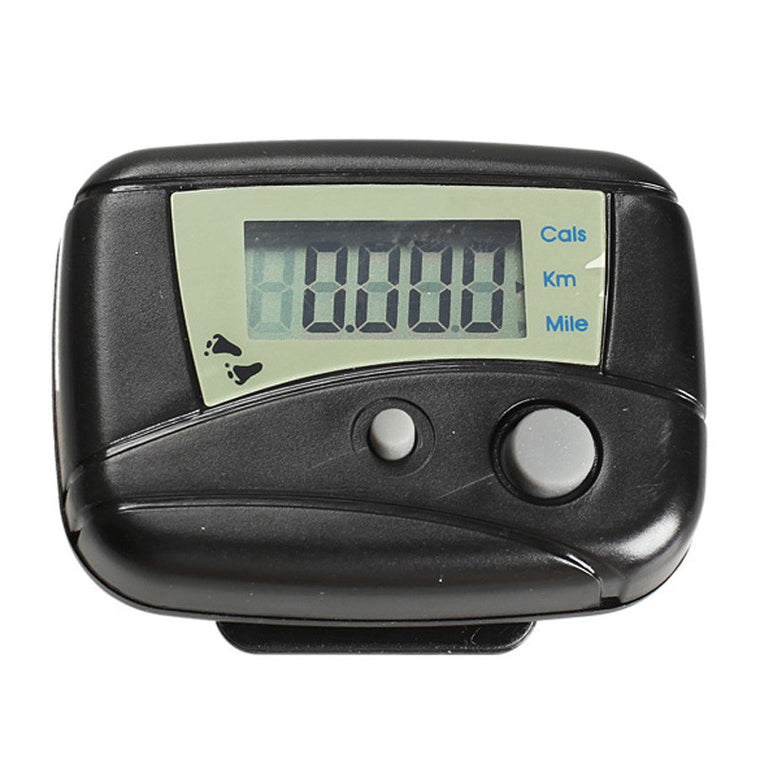 EA14 LCD Run Step Pedometer Walking Distance Calorie Counter Passometer Black Favorite for Outdoor Sports