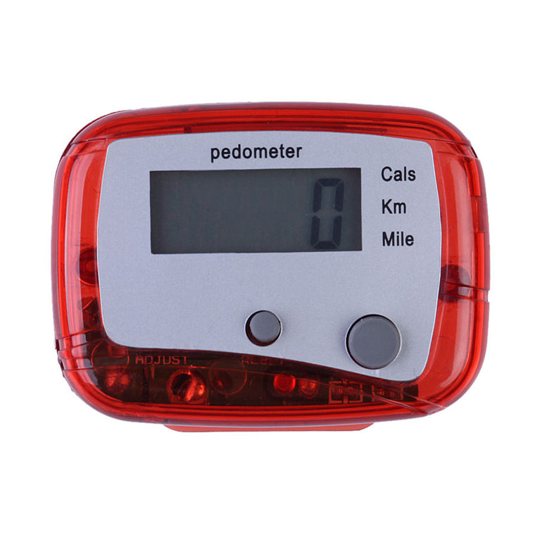 Red Outdoor Multifunction Passometer with Battery Sports Steps Distance Calorie Counter Pedometer FE#