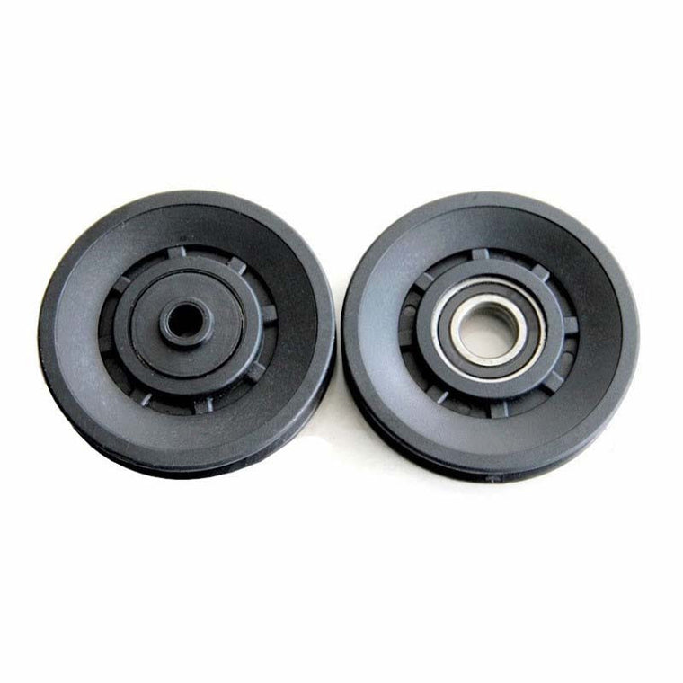 1 Pcs 90mm Diameter Bearing Pulley Sheath Fitness Equipment Component Wearproof Mute