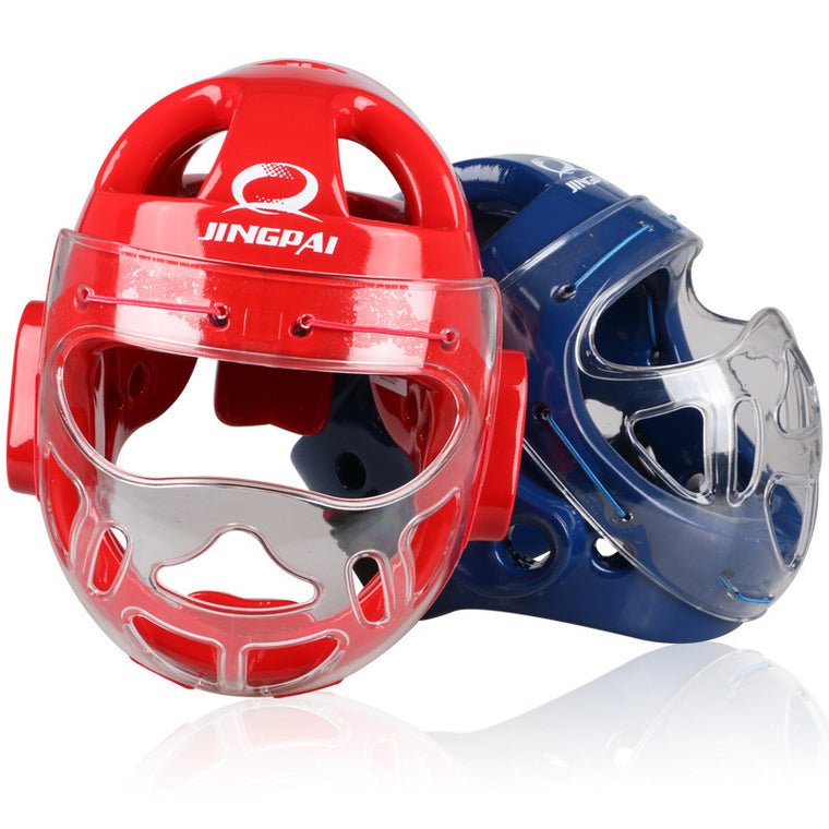 Top Brand MMA Karate Muay Thai Kick Training Helmet Boxing Head Guard Protector Headgear Sanda Taekwondo Protection red blue