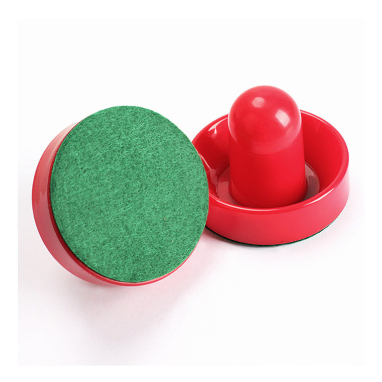 2Pcs 75mm Air Hockey Table Felt Pusher with 2pcs 63mm Puck Mallet Goalies A1 SS