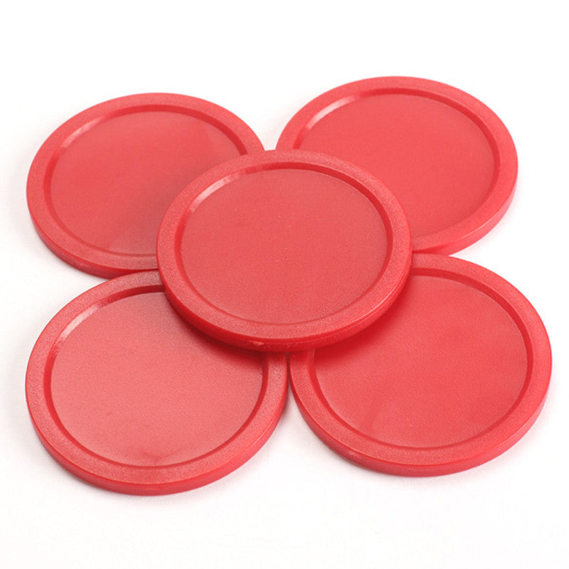 5Pcs Red 2-inch Mini Air Hockey Table Pucks 50mm Puck Children Table New Arrival EA14