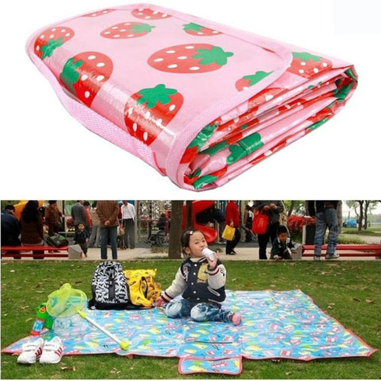180*160cm Cartoon Waterproof Outdoor Camping Child Blanket Baby Crawling Mat Beach Mat Picnic Rug